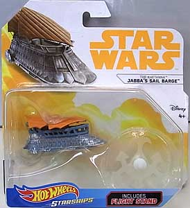 MATTEL HOT WHEELS STAR WARS DIE-CAST VEHICLE 2018 JABBA'S SAIL BARGE 台紙傷み特価