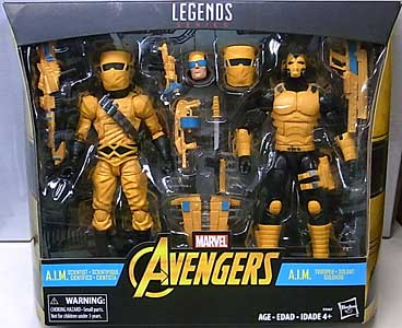 HASBRO MARVEL LEGENDS 2018 2PACK AVENGERS A.I.M. SCIENTIST & A.I.M. TROOPER パッケージ傷み特価