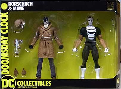 DC COLLECTIBLES DOOMSDAY CLOCK RORSCHACH & MIME 2PACK パッケージ傷み特価