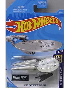 MATTEL HOT WHEELS 1/64スケール 2019 HW SCREEN TIME STAR TREK U.S.S. ENTERPRISE NCC-1701 #003