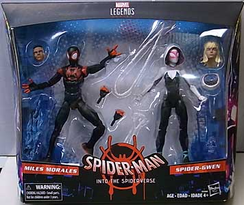 HASBRO MARVEL LEGENDS 2018 2PACK SPIDER-MAN INTO THE SPIDER-VERSE MILES MORALES & SPIDER-GWEN パッケージ傷み特価