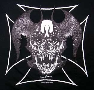 PUSHEAD IRON CROSS DEVIL Tシャツ