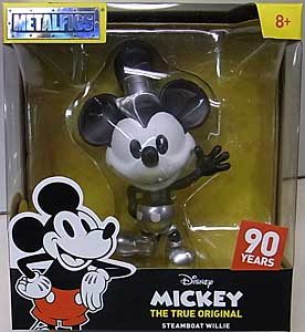 JADA TOYS METALS DIE CAST 4インチフィギュア MICKEY THE TRUE ORIGINAL STEAMBOAT WILLIE MICKEY