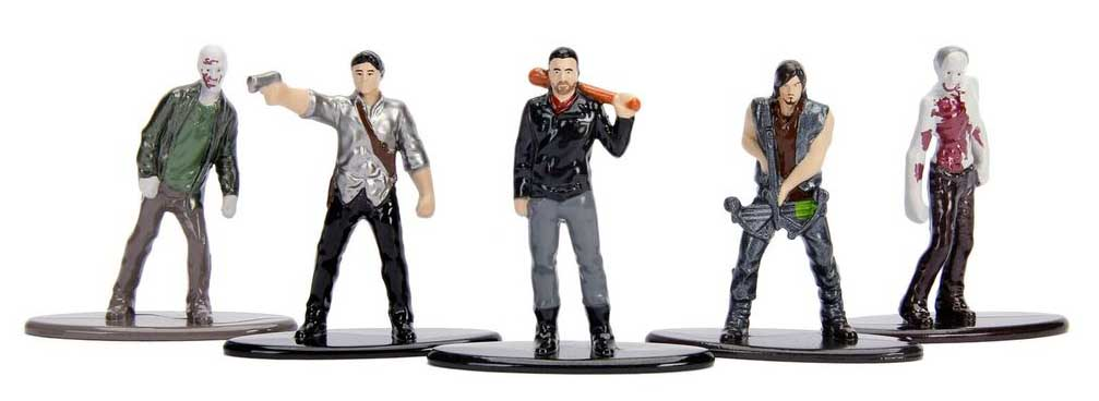 JADA TOYS NANO METALFIGS THE WALKING DEAD TV 5PACK PACK B