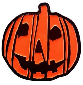 TRICK OR TREAT STUDIOS ENAMEL PIN HALLOWEEN 2018 PUMPKIN LOGO