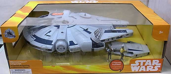 STAR WARS USAディズニーストア限定 SOLO: A STAR WARS STORY MILLENNIUM FALCON & FIGURE SET