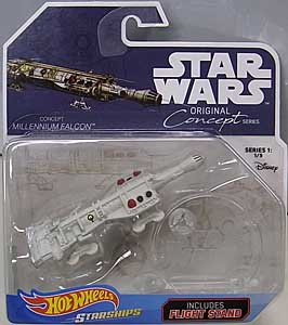 MATTEL HOT WHEELS STAR WARS DIE-CAST VEHICLE 2018 ORIGINAL CONCEPT SERIES CONCEPT MILLENNIUM FALCON 台紙傷み特価