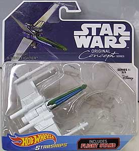 MATTEL HOT WHEELS STAR WARS DIE-CAST VEHICLE 2018 ORIGINAL CONCEPT SERIES CONCEPT X-WING FIGHTER 台紙傷み特価