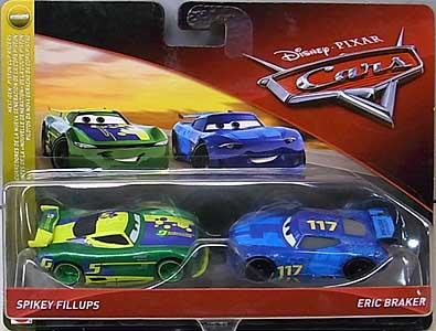 MATTEL CARS 2018 2PACK SPIKEY FILLUPS & ERIC BRAKER