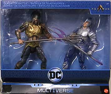 MATTEL DC COMICS MULTIVERSE 6インチアクションフィギュア 映画版 AQUAMAN GLADIATOR BATTLE 2PACK
