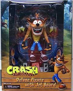 NECA CRASH BANDICOOT 5.5インチアクションフィギュア CRASH BANDICOOT WITH JET BOARD