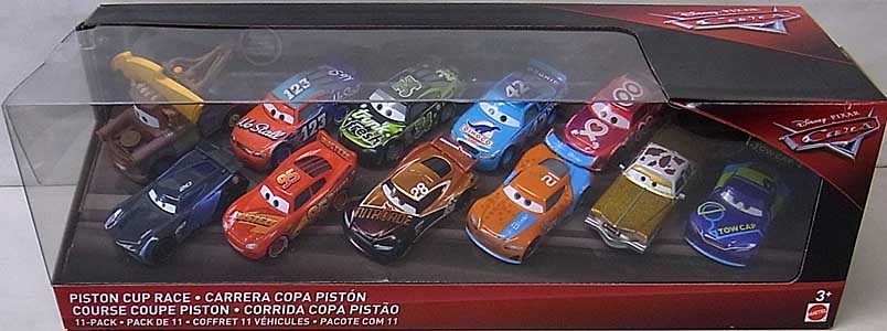 MATTEL CARS 2018 PISTON CUP RACE 11PACK