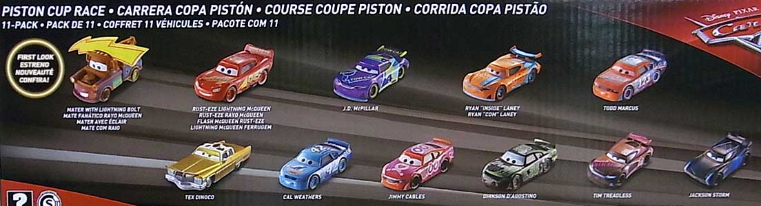 MATTEL CARS 2018 PISTON CUP RACE 11PACK [TODD MARCUS入り]