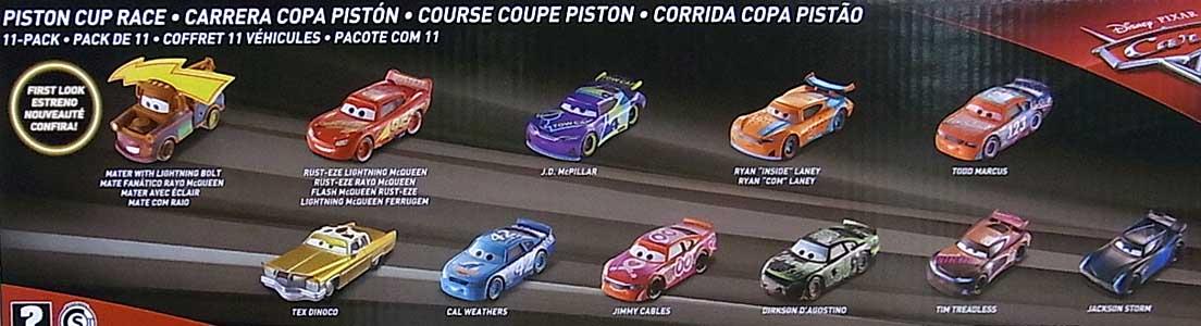 MATTEL CARS 2018 PISTON CUP RACE 11PACK