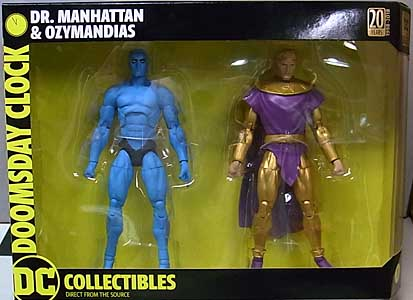 DC COLLECTIBLES DOOMSDAY CLOCK DR. MANHATTAN & OZYMANDIAS 2PACK
