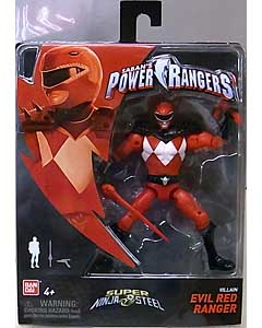 USA BANDAI POWER RANGERS SUPER NINJA STEEL 5インチアクションフィギュア VILLAIN EVIL RED RANGER