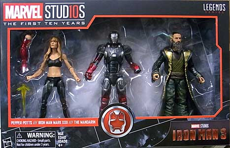 HASBRO MARVEL STUDIOS: THE FIRST TEN YEARS 映画版 IRON MAN 3 PEPPER POTTS & IRON MAN MARK XXII & THE MANDARIN 3PACK