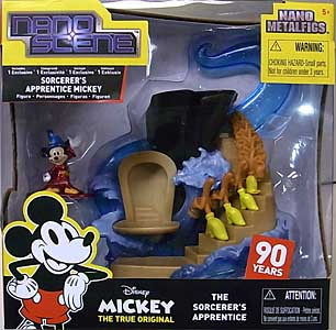 JADA TOYS NANO METALFIGS NANO SCENE MICKEY THE TRUE ORIGINAL THE SORCERER'S APPRENTICE MICKEY