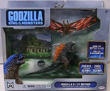 JAKKS PACIFIC GODZILLA: KING OF THE MONSTERS BATTLE PACK GODZILLA & MOTHRA パッケージ傷み特価