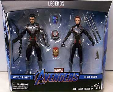 HASBRO MARVEL LEGENDS 2019 2PACK TARGET限定 映画版 AVENGERS: ENDGAME HAWKEYE & BLACK WIDOW パッケージ傷み特価