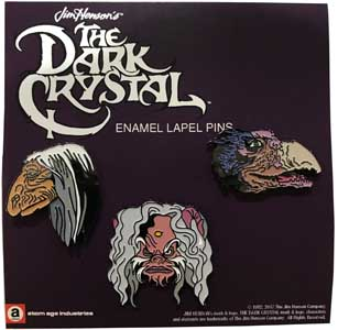 ATOM AGE INDUSTRIES ENAMEL PIN THE DARK CRYSTAL SET