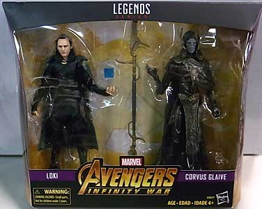 HASBRO MARVEL LEGENDS 2019 2PACK 映画版 AVENGERS: INFINITY WAR LOKI & CORVUS GLAIVE