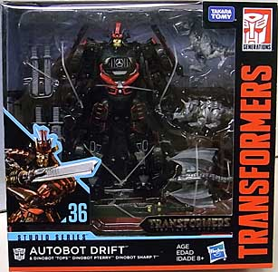 HASBRO TRANSFORMERS STUDIO SERIES DELUXE CLASS AUTOBOT DRIFT & DINOBOT 'TOPS, DINOBOT PTERRY, DINOBOT SHARP T #36