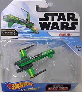 MATTEL HOT WHEELS STAR WARS DIE-CAST VEHICLE 2019 HYPE FAZON'S GREEN ACE ブリスター傷み特価