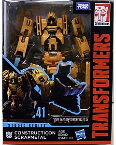 HASBRO TRANSFORMERS STUDIO SERIES DELUXE CLASS CONSTRUCTION SCRAPMETAL #41