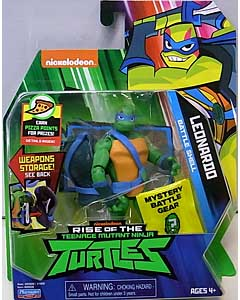 PLAYMATES RISE OF THE TEENAGE MUTANT NINJA TURTLES ベーシックフィギュア BATTLE SHELL LEONARDO 台紙傷み特価