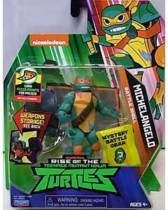 PLAYMATES RISE OF THE TEENAGE MUTANT NINJA TURTLES ベーシックフィギュア BATTLE SHELL MICHELANGELO ワケアリ特価