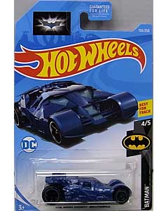 MATTEL HOT WHEELS 1/64スケール 2019 BATMAN THE DARK KNIGHT TRILOGY THE DARK KNIGHT BATMOBILE #153