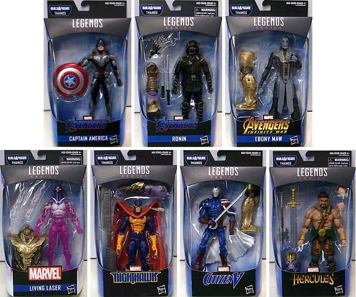 HASBRO MARVEL LEGENDS 2019 AVENGERS: ENDGAME SERIES 1.0 7種セット [ARMORED THANOS SERIES] パッケージ傷み特価
