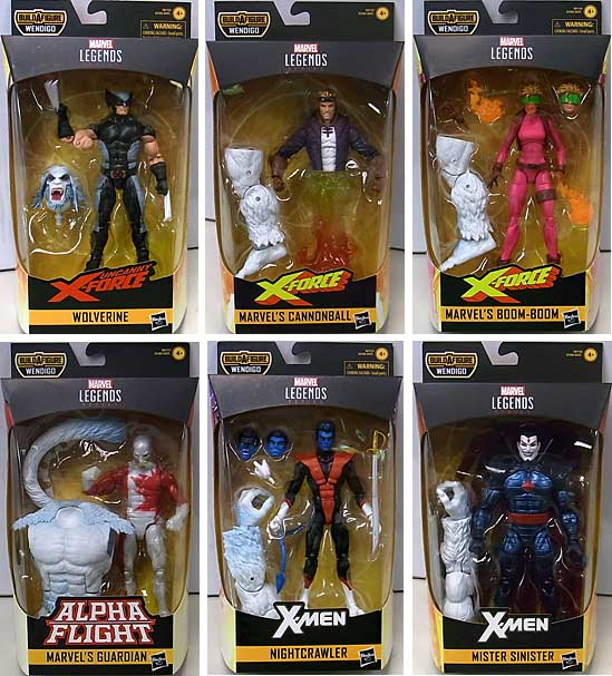 HASBRO MARVEL LEGENDS 2019 X-FORCE SERIES 1.0 6種セット [WENDIGO SERIES]