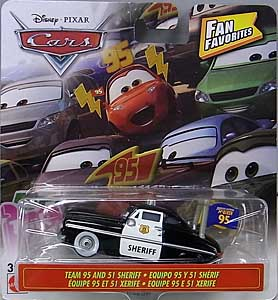 MATTEL CARS 2019 FAN FAVORITES シングル TEAM 95 AND 51 SHERIFF 台紙傷み特価