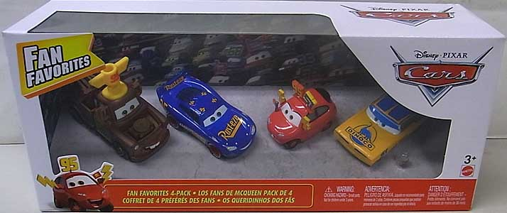 MATTEL CARS 2019 FAN FAVORITES 4PACK
