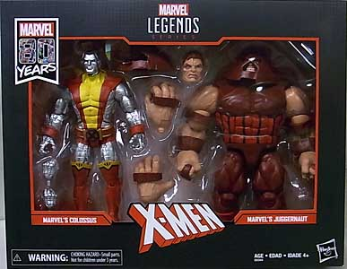 HASBRO MARVEL LEGENDS 2019 MARVEL 80 YEARS 2PACK X-MEN MARVEL'S COLOSSUS & MARVEL'S JUGGERNAUT パッケージ傷み特価