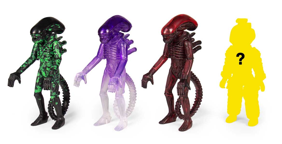 SUPER 7 REACTION FIGURES 3.75インチアクションフィギュア ALIEN BLIND BOX WAVE 3 XENOMORPH 12 BOX入り 1ケース