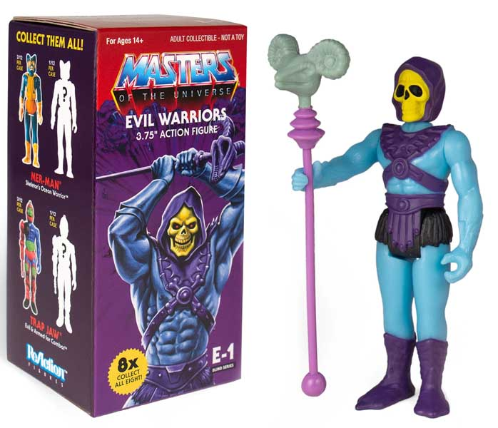 SUPER 7 REACTION FIGURES 3.75インチアクションフィギュア MASTERS OF THE UNIVERSE BLIND BOX SNAKE MOUNTAIN 12 BOX入り 1ケース