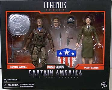 HASBRO MARVEL LEGENDS 2019 2PACK 映画版 CAPTAIN AMERICA: THE FIRST AVENGER CAPTAIN AMERICA & PEGGY CARTER