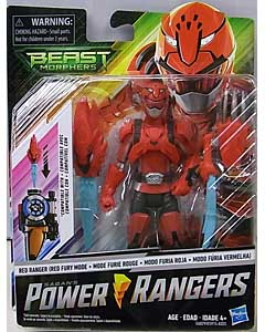 HASBRO POWER RANGERS BEAST MORPHERS 6インチアクションフィギュア RED RANGER [RED FURY MODE]