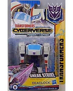 HASBRO アニメ版 TRANSFORMERS CYBERVERSE POWER OF THE SPARK WARRIOR CLASS DEADLOCK 台紙破れ特価
