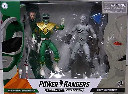 HASBRO POWER RANGERS LIGHTNING COLLECTION 6インチアクションフィギュア 2PACK FIGHTING SPIRIT GREEN RANGER & MIGHTY MORPHIN PUTTY パッケージ傷み特価