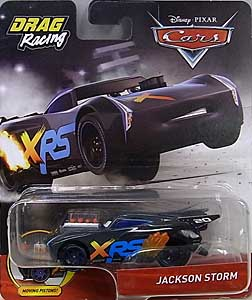MATTEL CARS 2019 XTREME RACING SERIES DRAG RACING シングル JACKSON STORM 台紙&ブリスター傷み特価
