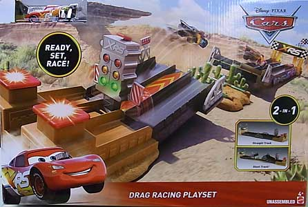 MATTEL CARS 2019 XTREME RACING SERIES DRAG RACING DRAG RACING PLAYSET