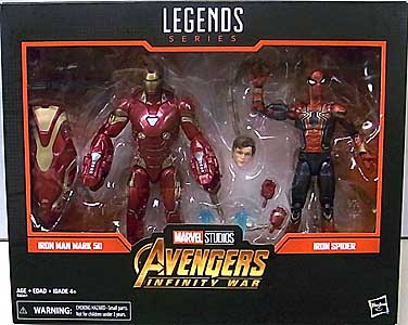 HASBRO MARVEL LEGENDS 2019 2PACK 映画版 AVENGERS: INFINITY WAR IRON MAN MARK 50 & IRON SPIDER ワケアリ特価