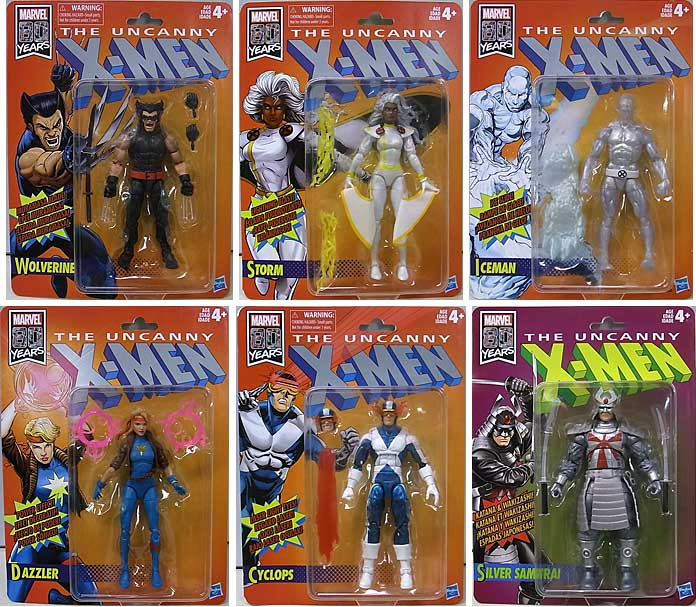 HASBRO MARVEL LEGENDS RETRO 6-INCH COLLECTION MARVEL 80 YEARS THE UNCANNY X-MEN 6種セット