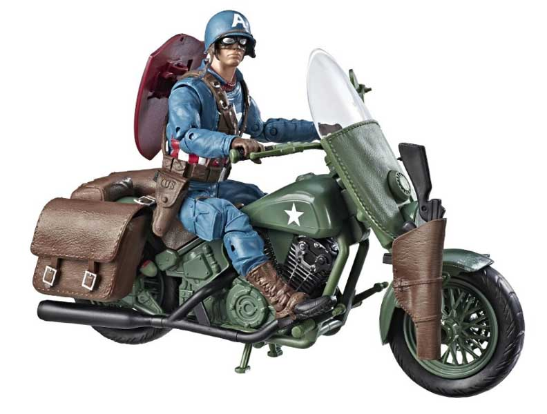HASBRO MARVEL LEGENDS 2019 MARVEL 80 YEARS CAPTAIN AMERICA WITH MOTORCYCLE