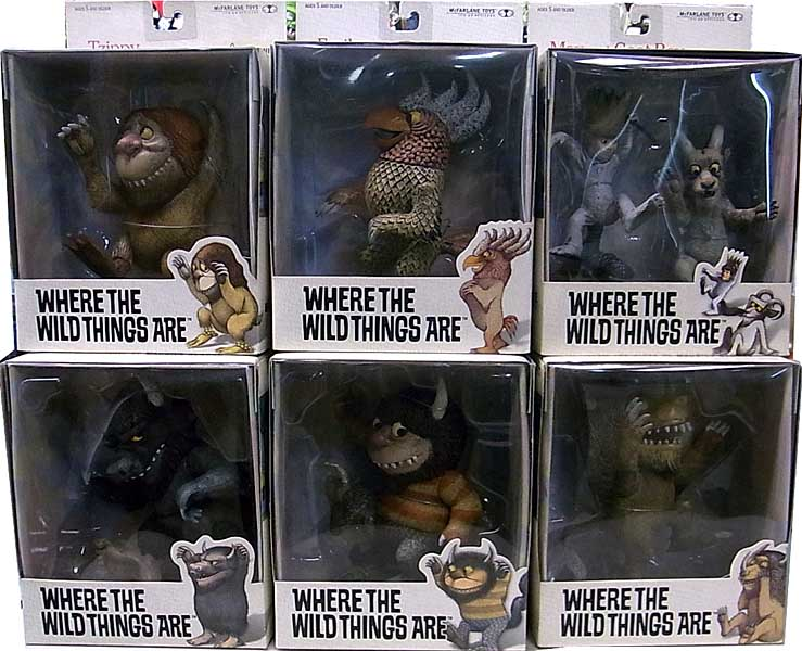 McFARLANE TOYS WHERE THE WILD THINGS ARE 6種セット パッケージ傷み特価