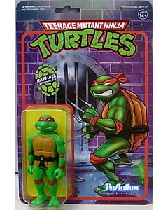 SUPER 7 REACTION FIGURES 3.75インチアクションフィギュア TEENAGE MUTANT NINJA TURTLES RAPHAEL